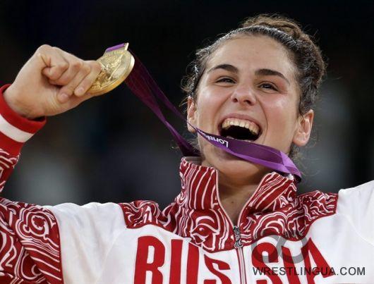 Саори Йошида и Наталья Воробьева Олимпийские Чемпионки Лондона.