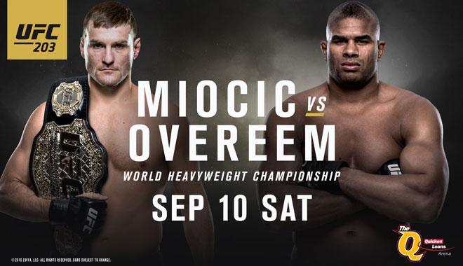 UFC 203: Miocic vs Overeem
