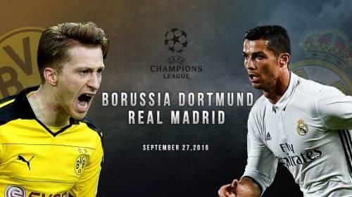 Лига чемпионов боруссия реал мадрид видео